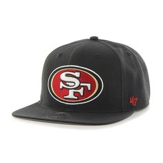 timeless design dfa42 4f657 San Francisco 49Ers Super Shot Captain Black 47 Brand Adjustable Hat