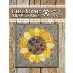 Sunflowers and Sunshine - Material Girlfriends Mini Quilts, Baby Quilts, Diy Quilting Patterns, Dresden Plate Quilts, Polka Dot Background, Quilt Material, Doll Quilt, Pattern Blocks, Block Patterns