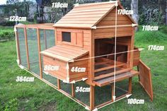 Wood Chicken Poultry Bird Rabbit Pet Coop Large Outdoor Run Hen House Hutch Cage. Mobile Chicken C Mobile Chicken Coop, Small Chicken Coops, Diy Chicken Coop Plans, Portable Chicken Coop, Chicken Cages, Chicken Garden, Chicken Coop Designs, Best Chicken Coop, Backyard Chicken Coops