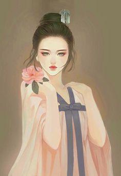 Beautiful paintings and illustrations Chinese Drawings, Art Drawings, Geisha, Manga Anime, Anime Art, Art Chinois, Art Asiatique, Korean Art, China Art
