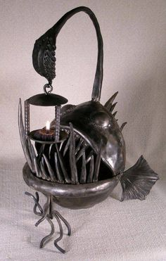 The Fabulous Weird Trotters Anglerfish candle holder - the nautilus studio