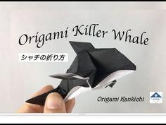 Origami Killer Whale (Orca) Tutorial  シャチの折り方 - YouTube