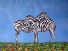 Zebra Crossing Original Acrylic Painting by South African Artist Nora Lemmon by AfricanGranny on Etsy https://www.etsy.com/listing/188739269/zebra-crossing-original-acrylic-painting