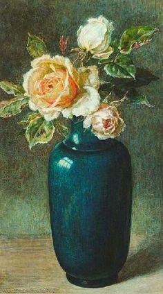Helen Cordelia Angell Vase of Roses 1870