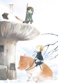 Attack on Titan (Shingeki no Kyojin) - Erwin Smith and Levi Ackerman - Eruri