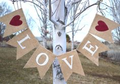 Valentine's Day Banner Valentine's by PearlsAndPetitFours on Etsy Valentine Banner, My Funny Valentine, Valentine Day Love, Valentine Day Crafts, Holiday Crafts, Holiday Fun, Pinterest Valentines, Happy Hearts Day, Burlap Crafts