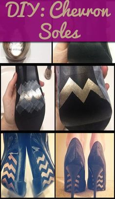chevron soles use a paint pen to spruce up your shoe