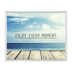 Enjoy Every Moment Canvas Print, White, Single piece, 8 x 10 inches, Black