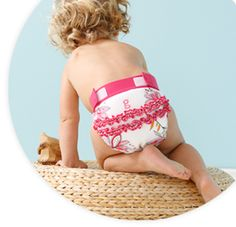 girly twirly little gPants! This ruffle print won't stay in bloom for long. $24.99. Available on www.gdiapers.com/shop.