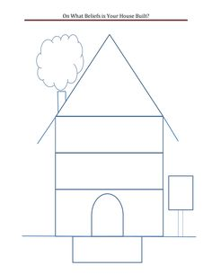 """Template for """"Draw Your House"""" activity. 