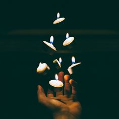 she rasied her hand,the candles floated in midair.it was a splendid sight.