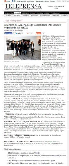 ¡Todo un éxito de público! Inaugurada ayer (13/03/2014) la exposición Ars Visibilis II en en #MuseodeAlmería (Teleprensa: Periódico Digital de Almería)