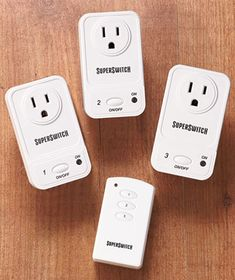 hmm.  Plug in your lights or decorations into anyone of these and use the remote to turn them on and off.  $22.95