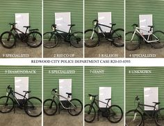 On 3/24/2020, the RCPD located 18 bicycles, some of which have been reunited with their owners. We are attempting to identify the rightful owners of these remaining bicycles. If you believe one of these is yours, please contact mmondragon@redwoodcity.org, provide the number of the bicycle and be prepared to provide proof of ownership. Thanks! The Agency, Bicycles, Police, Number, City, Cities, Law Enforcement, Bike, Bicycle