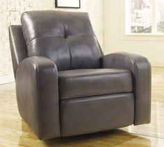 Mannix Contemporary Gray Color DuraBlend Match Upholstery Swivel Glider Recliner ** See this great product.Note:It is affiliate link to Amazon.