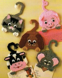 Recipe Buddies Magnets Plastic Canvas Pattern from Annie'S | eBay