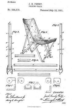 Der Fenby folding chair wurde später bekannt unter dem Namen Tripolina, nachdem er in Tripolis, Libyen, für den italienischen Markt als stabiler Campingstuhl hergestellt wurde.