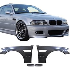 02-04 BMW E46 3 Series 4D M3 Style Metal Fenders + Chrome Side Vent -- Awesome products selected by Anna Churchill