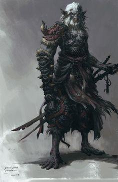 Old samurai. Possible inspiration for Naganezu Centurion concept for the #Valanas setting.