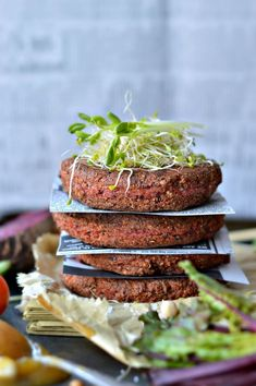 Supergrains Beetroot and Tofu Burger Patties :http://www.sweetashoney.co/supergrains-beetroot-and-tofu-burger-patties/