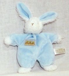 Bunnies by the Bay Sweet Hops Little Blue EASTER Rabbit Bunny Lovey Rattle  #BunniesbytheBay