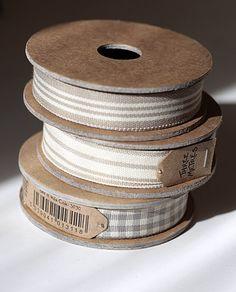 spools of neutral colored ribbon Ribbon Wrap, Diy Ribbon, Lace Ribbon, Silk Ribbon Embroidery, Wired Ribbon, Make Do And Mend, Pretty Packaging, Love Sewing, Craft Materials
