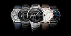 Emporio Armani : Collection de montres connectées hybrides