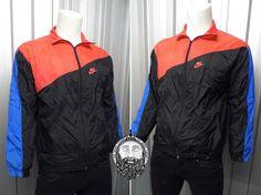 Vintage 90's Nike Windbreaker Jacket Tricolour by ZeusVintage