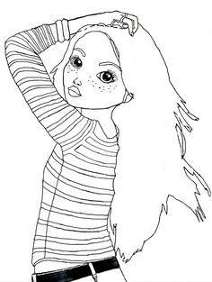 ausmalbilder Topmodel Lexy