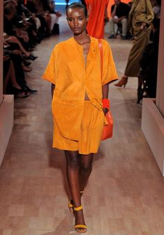 Hermes Spring 2012.  Bright, in-your-face tangerine.