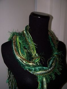 Make a Trendy Knotted Yarn Scarf