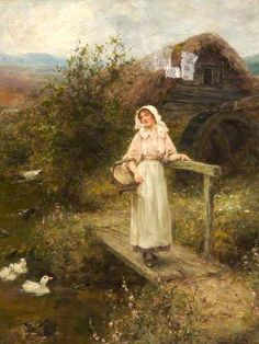 The Mill Stream ~ Henry John Yeend King ~ (English: 1855-1924)