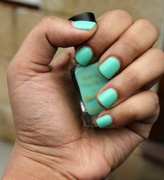 Mint green, wish I knew the brand?! This color is beautiful!