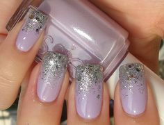Glitter gradient - Essie Nice is Nice and OPI Crown Me Already