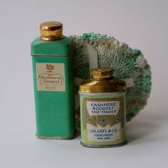 Powder Vintage Cashmere Bouquet Tins Art by stonebridgeworks, $30.00