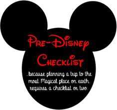 Pre Disney Checklist  Not a lot of new tips but links to stroller rental companies, ideas for goodie bags, and customized apparel items