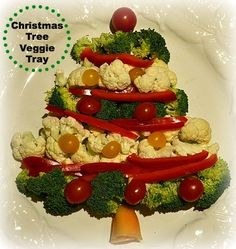 Quick and Healthy Christmas Tree Vegetable Tray