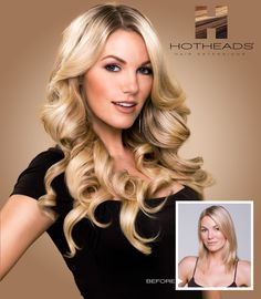 Volume, Length & Color Effects with Hotheads Hair Extensions