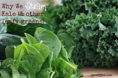 Why We Steam Kale and Other Greens | Nutritional powerhouses like kale, collards, spinach, chard, and beet greens all contain oxalic acid, which binds with calcium and other minerals (like magnesium and iron) in order to be excreted from the body. Calcium and magnesium are precious minerals our bodies need to function and grow properly. The good news is: oxalic acid is easily reduced by steaming, boiling, or wilting the leaves of any of these vegetables. | TraditionalCookingSchool.com