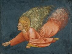 Two Angels after Giotto, Northern Italian, c. 1400 - 1425    Fresco