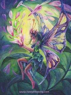 Fairy - Hannah Boeving. Watercolour