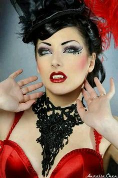 ... girls burlesque makeup comtesse burlesque burlesque vampires steampunk