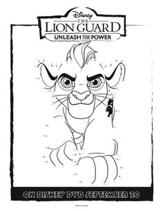 Unleash the Power with these great The Lion Guard coloring pages and activity page. Full size free printable coloring pages for tons of fun and creativity. The Lion Guard Activity Page Kion