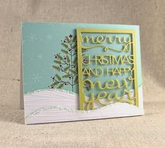 Snowy Christmas Shaker Card by Lizzie Jones for Papertrey Ink (September 2014)