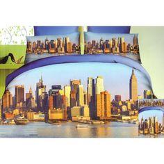 Modré 3D posteľné obliečky veľkomestá Opera House, Building, Travel, Viajes, Buildings, Destinations, Traveling, Trips, Construction