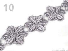 Čipka vzdušná šírka 45mm kvety