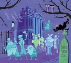 SHAG, the trendy artist famous for his Adventureland and Tiki Room inspired artwork did new artwork for the Haunted Mansion 40th Anniversary celebration