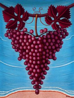 El racimo de uvas. 1944. Óleo sobre tablero de artista. 66 x 50 cm. Colección particular Obra de Maruja Mallo