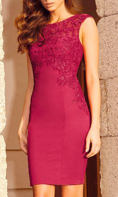 Crochet Sheath Dress Love the length and that its fitted in the right places for slimming look