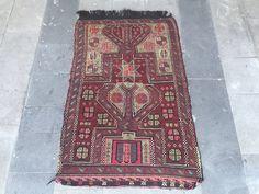 Super Fine Vintage Turkish Anatolian Kilim Rug, Cicim, Red Kilim Rug, Boho Chic, Symetric Design by NotonlyRugs on Etsy